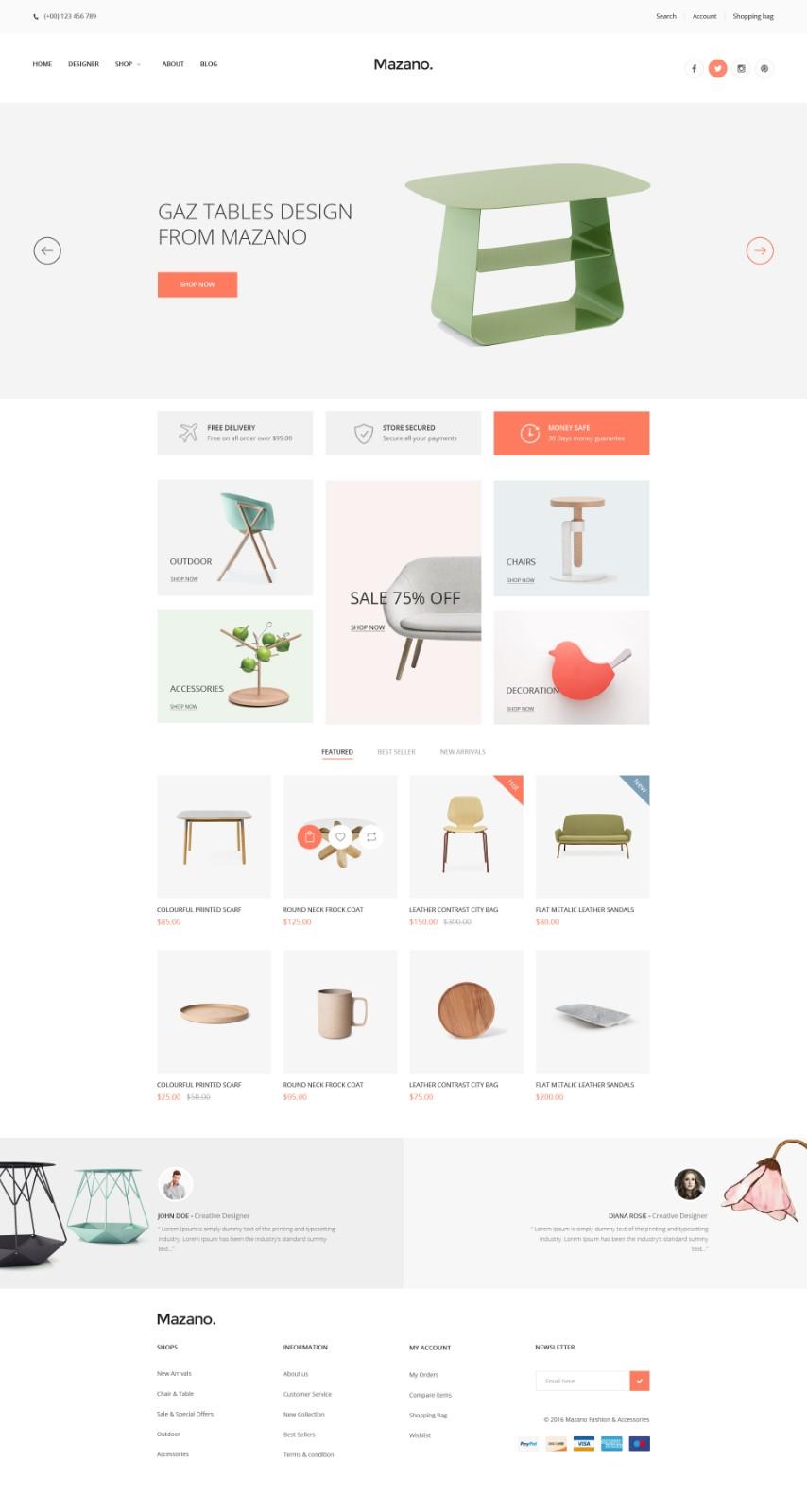 家居商城网页模板-7