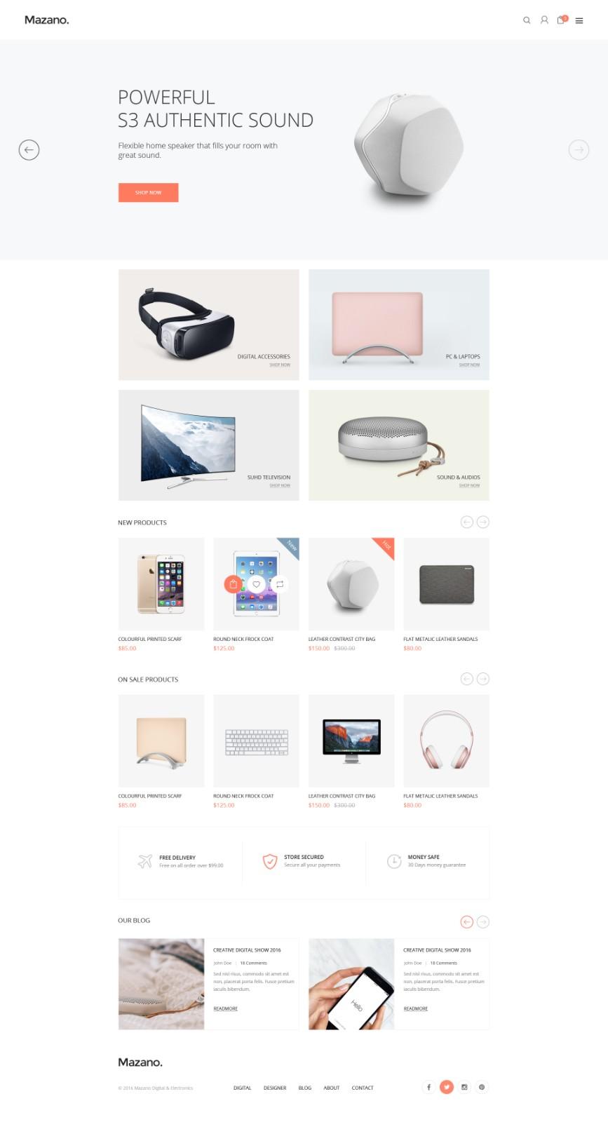家居商城网页模板-5